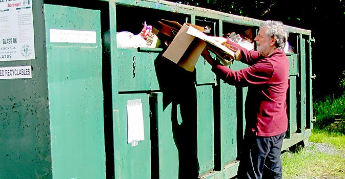 recycling container on Shaw Island